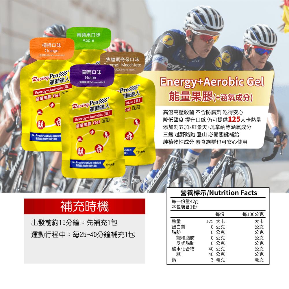 【RacingPro】【BCAA/能量果膠/魔力塩】精選補給組合包 2