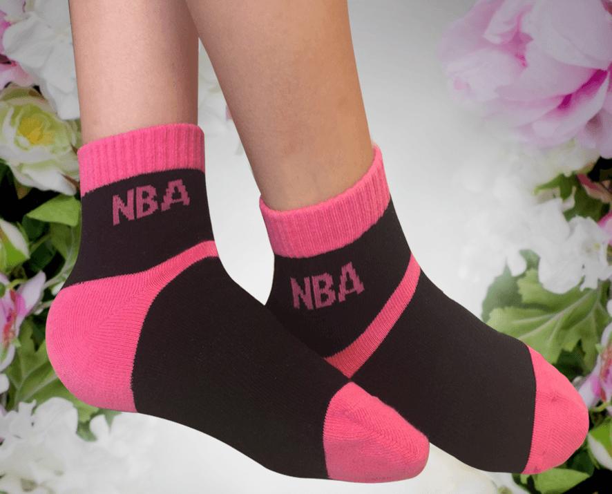 【NBA】 女款百搭平板緹花短襪 5
