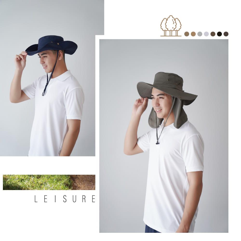 【Peilou】UPF50+多功能休閒遮陽帽-男女款 9