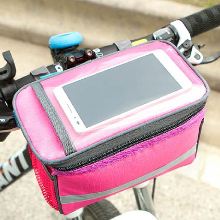【E.City】大容量自行車手機觸控立體方包 1