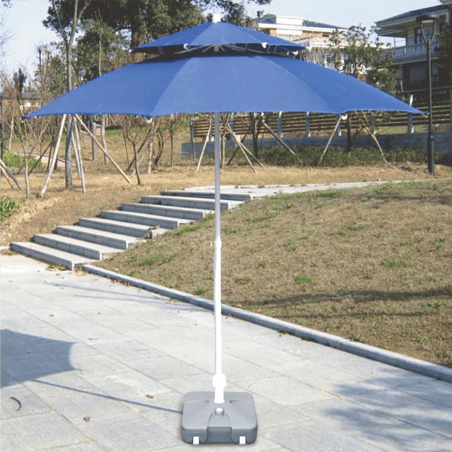 300cm超大雙層玻纖傘骨大陽傘+17kg傘座 送收納袋 10
