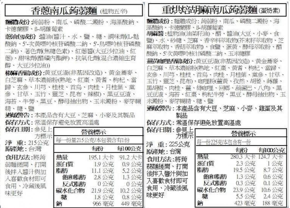 禮面作旗艦版-五行南瓜蒟蒻麵系列 12