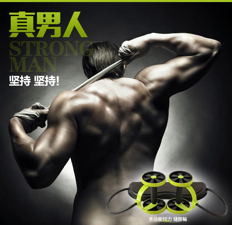 多功能健腹輪 家用腹肌健身滾輪靜音拉力繩減肥鍛煉健身器材 9