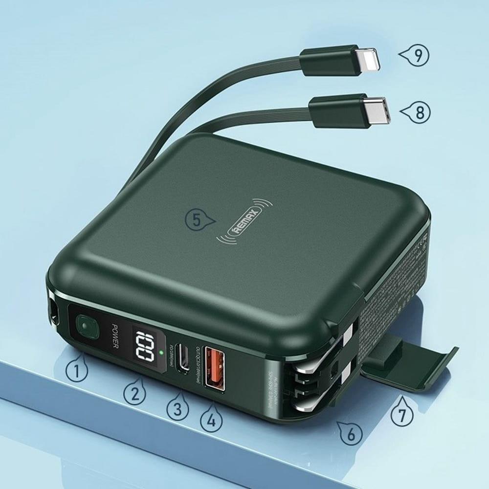 Remax RPP-145 四合一 行動電源 10000mAh PD QC3.0 18W快充 無線
