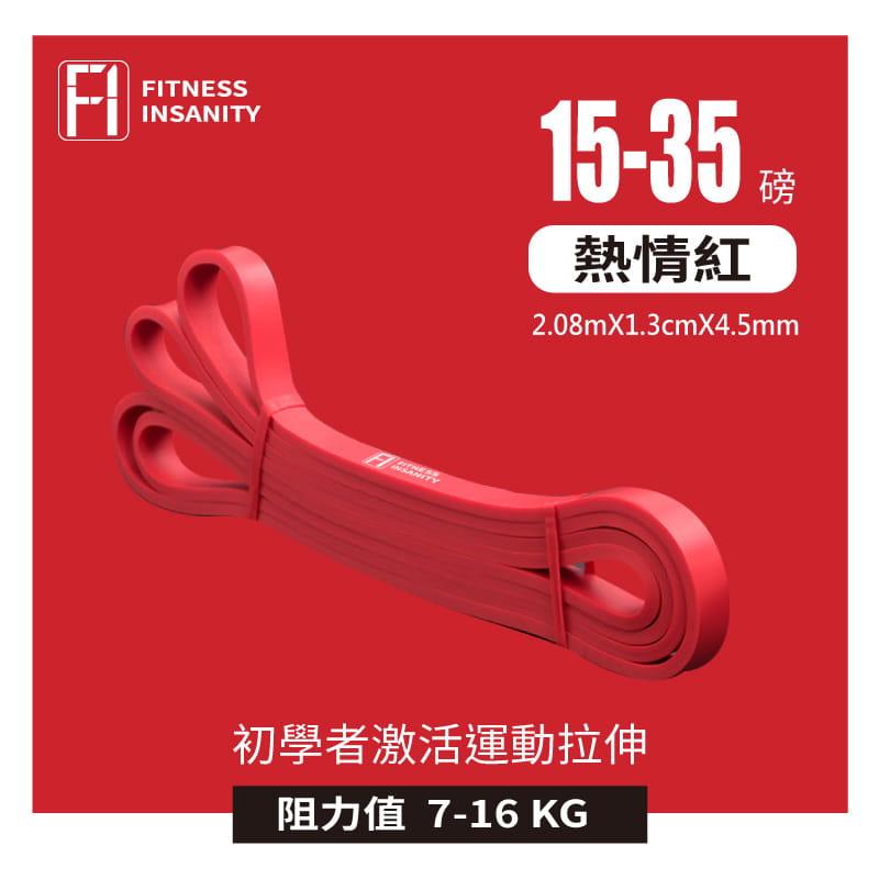 【FitnessInsanity】多功能環狀彈力帶 阻力带4件組 10