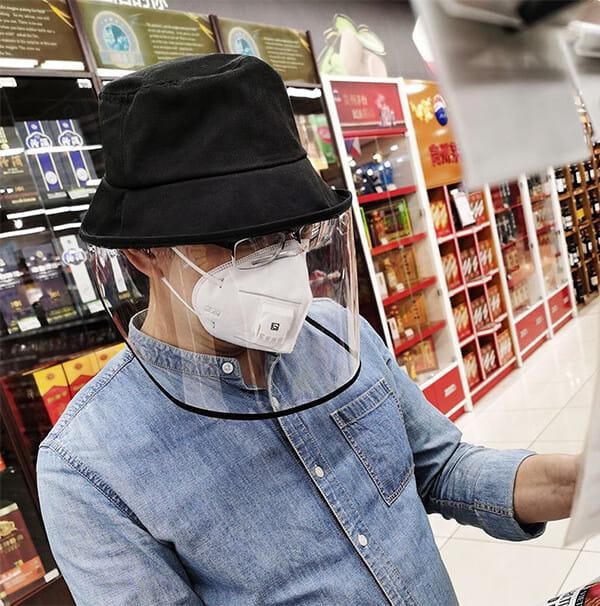 【台灣現貨】防護帽 防飛沫帽 透明面罩  飛沫阻擋 防護面罩  隔離唾沫 防疫用品 6