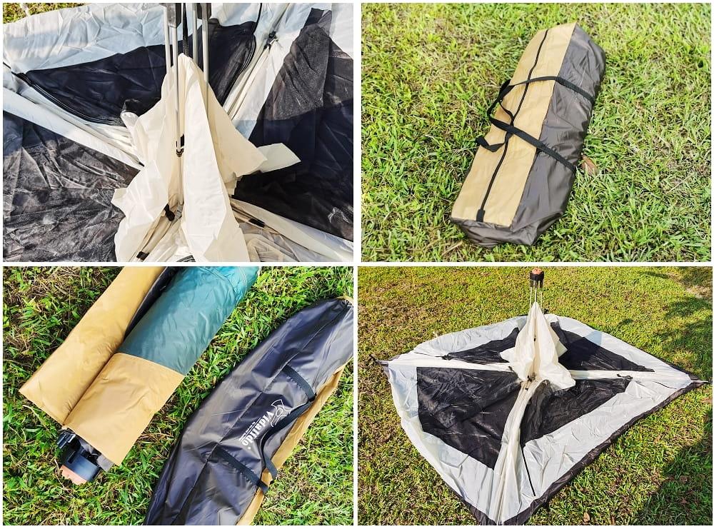 駝綠色自動速開家庭3-4人帳篷 防暴雨抗紫外線沙灘釣魚帳篷 9
