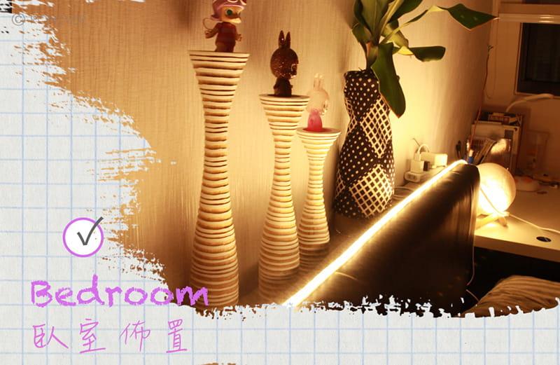 【RONEVER】暖光60顆燈珠LED防水燈條-1M 9