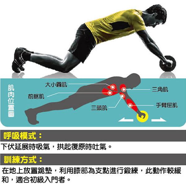 居家防疫運動組 成功 伏地挺身器(熨斗型)S5205+防滑健腹雙輪 S5204 3