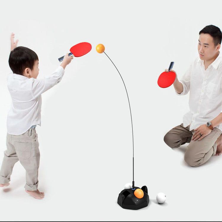 乒乓球訓練器0.9米黑色底座+6球(含拍) 0