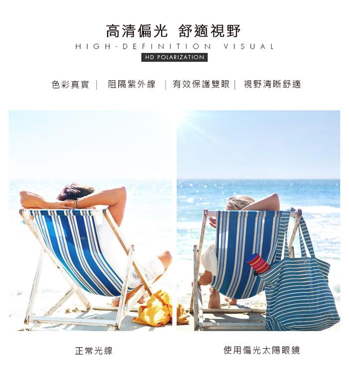 【母親節特惠】HORIEN海儷恩 時尚大圓框偏光太陽眼鏡 抗UV ( N6212 P06 ) 9