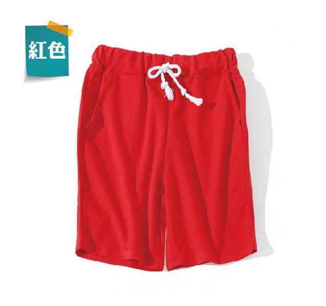 棉質休閒運動短褲 薄款透氣 抽繩男女款 舒適健身褲 17