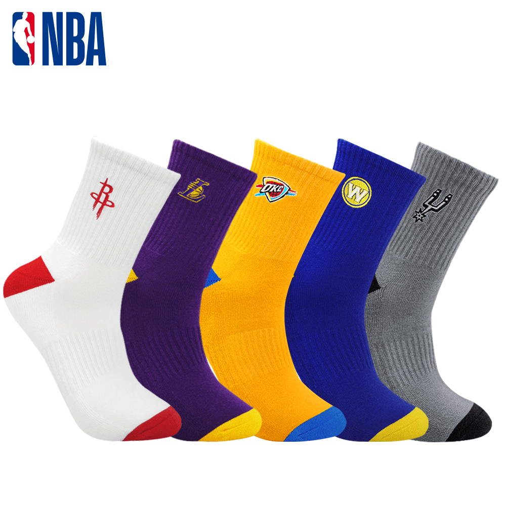 【NBA】西區球隊款束腳底毛圈中筒襪 0