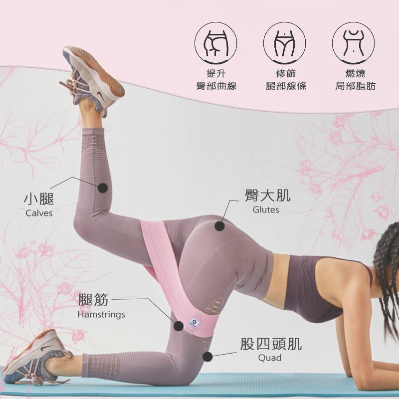 【MACMUS】升級防滑乳膠彈力翹臀圈|健身運動、深蹲、瑜珈|阻力圈虐臀圈 3