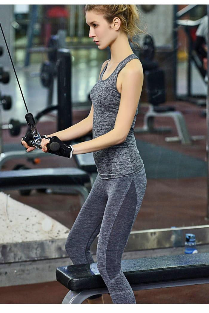 【Un-Sport高機能】高彈力AB紗透氣托肌七分褲(瑜伽/健身/跳舞) 5