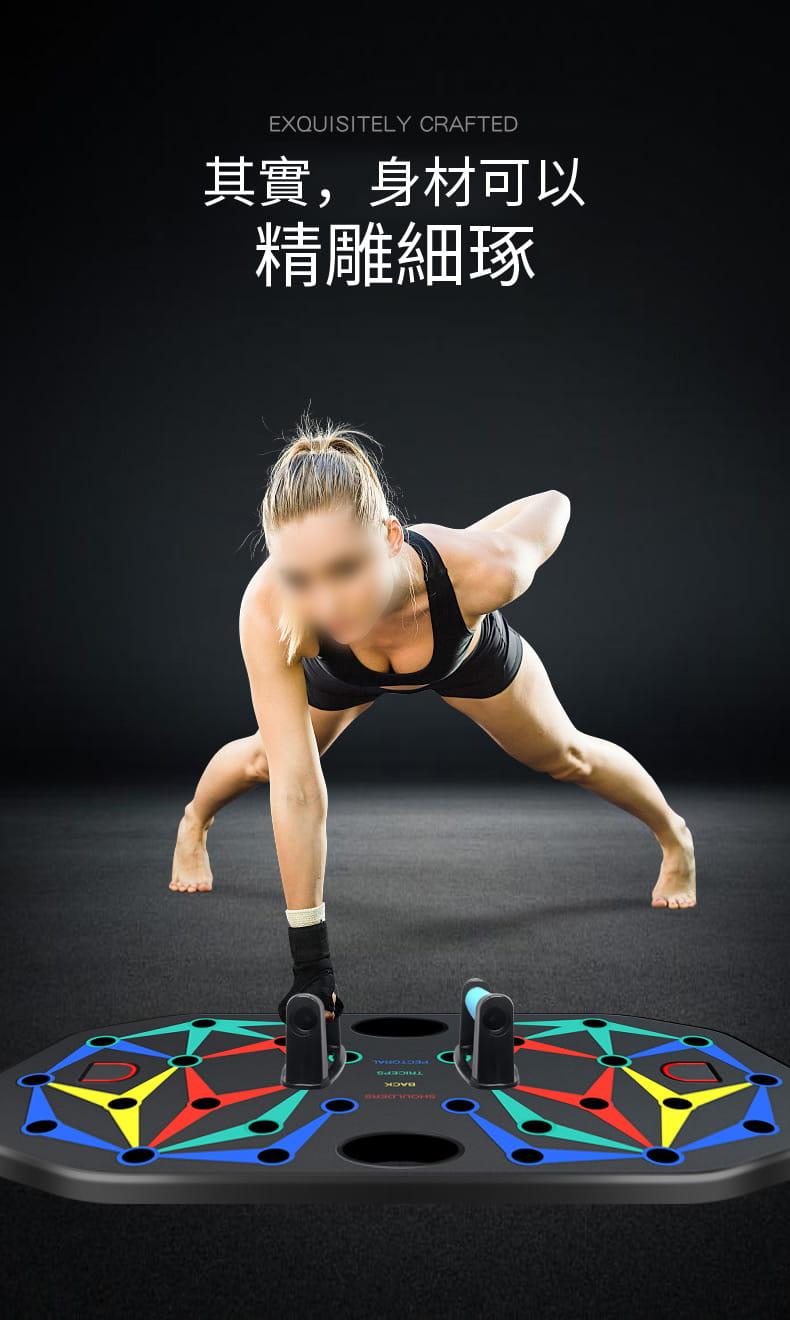【台灣現貨】俯臥撐支架輔助器男士多功能練腹肌訓練板(22種功能) 4