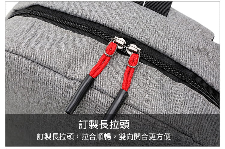 【JAR嚴選】防盜耐磨可充電式多功能雙肩電腦包 8