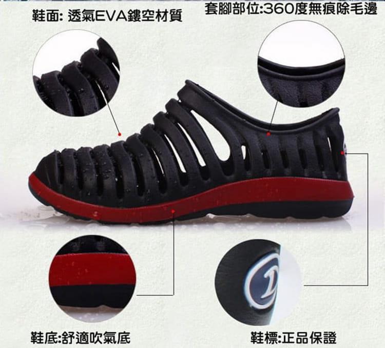 【JAR嚴選】透氣防滑水陸兩用晴雨鞋情侶款 6