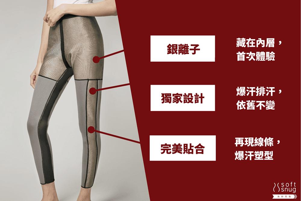 【微笑生活】Soft Snug 銀纖維爆汗九分褲(單口袋) 銀離子 2
