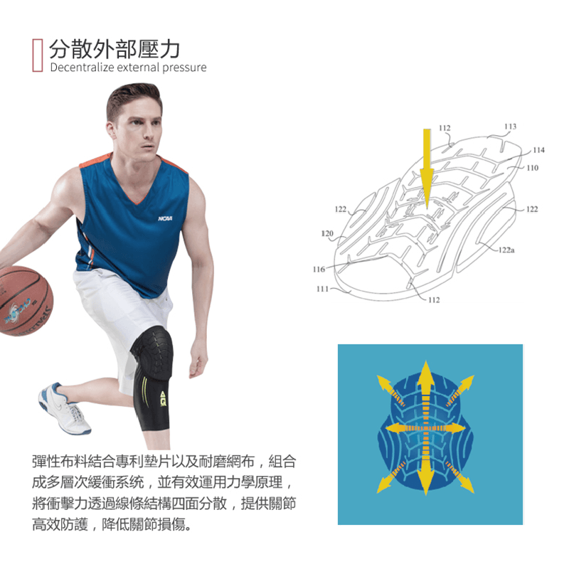 【AQ SUPPORT】AQ籃球抗衝擊強化護膝 6