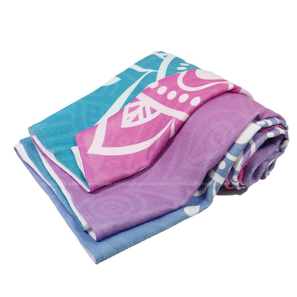 矽膠止滑瑜珈巾 瑜珈鋪巾 瑜珈墊 地墊 SNAY10漸層彩