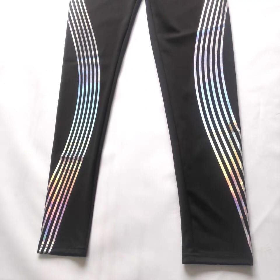 運動長褲反光設計夜跑有保障韻律有氧跑步瑜珈LETS SEA-KOI 4