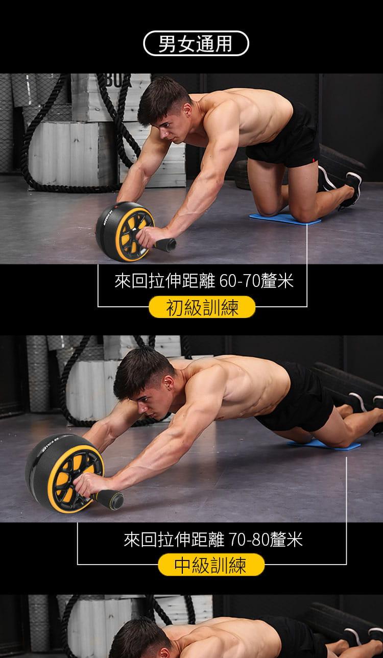 自動回彈健腹輪腹肌速成神器男女收腹卷健身器材家用初學者 2