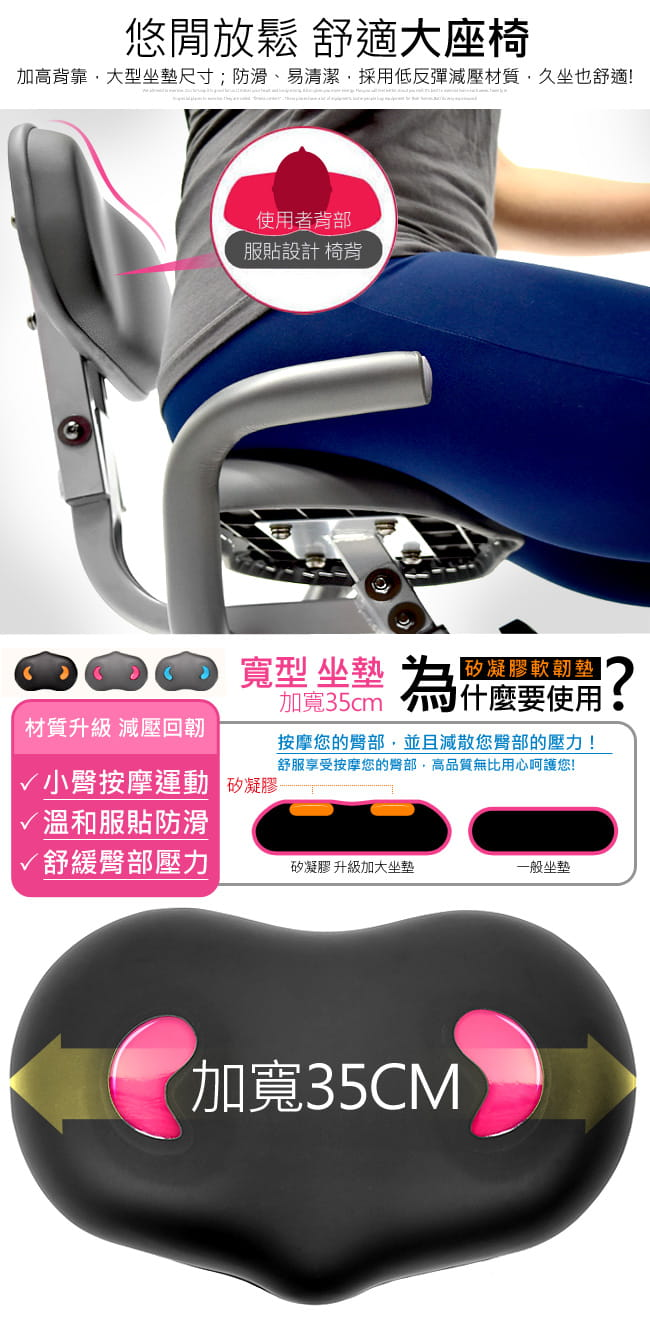 【SAN SPORTS】四角度飛輪式磁控健身車(超大座椅+椅背) 12