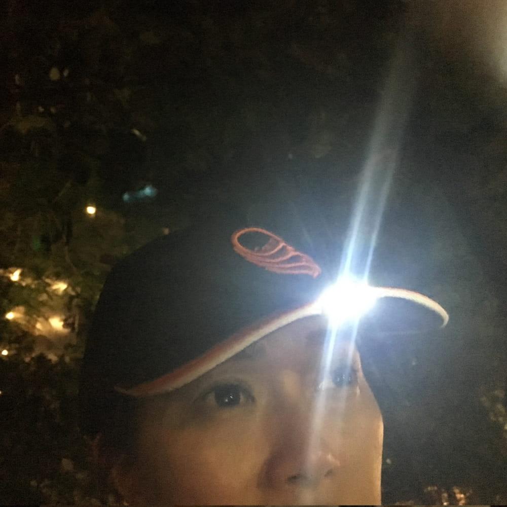 【LED運動帽 遠近照明】 2