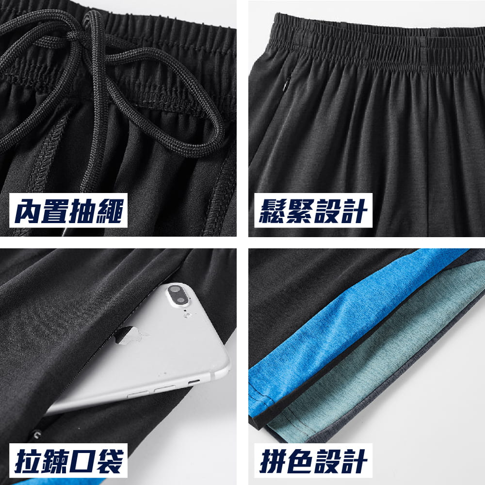 【NEW FORCE】輕量快乾鬆緊拉繩五分短褲-2色可選 6