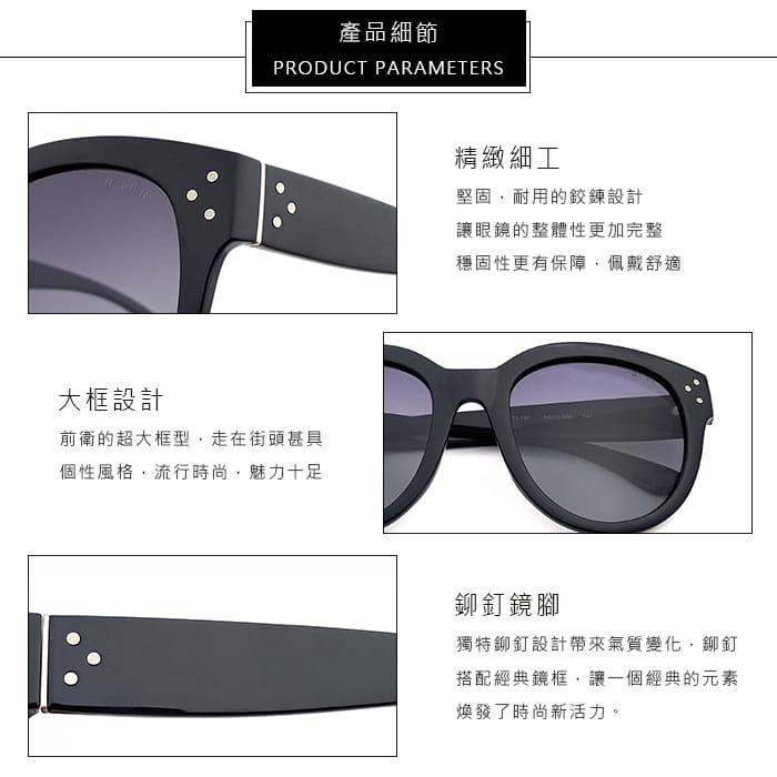 【母親節特惠】HORIEN海儷恩 時尚大圓框偏光太陽眼鏡 抗UV ( N6212 P06 ) 8