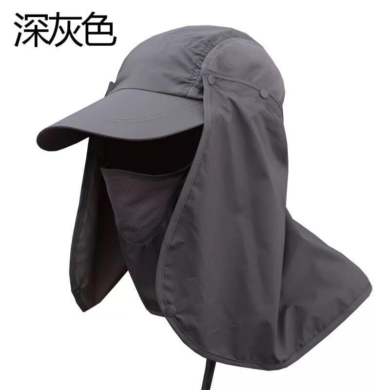 UPF50+抗UV高防曬速乾護頸遮陽帽 12