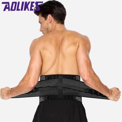 【Aolikes】【AOLIKES 台灣旗艦店】六根彈簧運動護腰7990(單入) 7