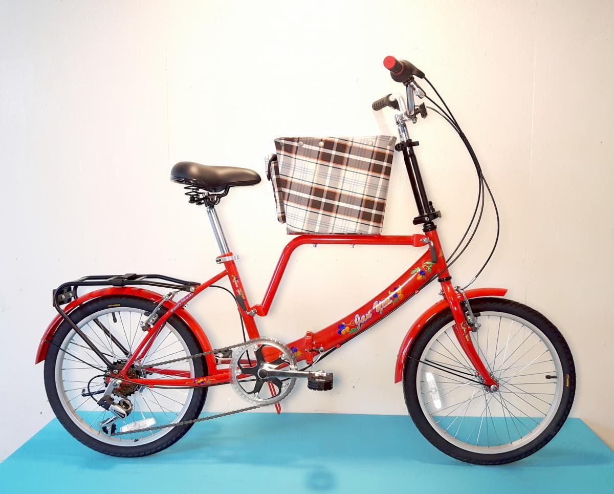 台製 20吋 6速 SHIMANO 摺疊 小籃 寵物腳踏車 1