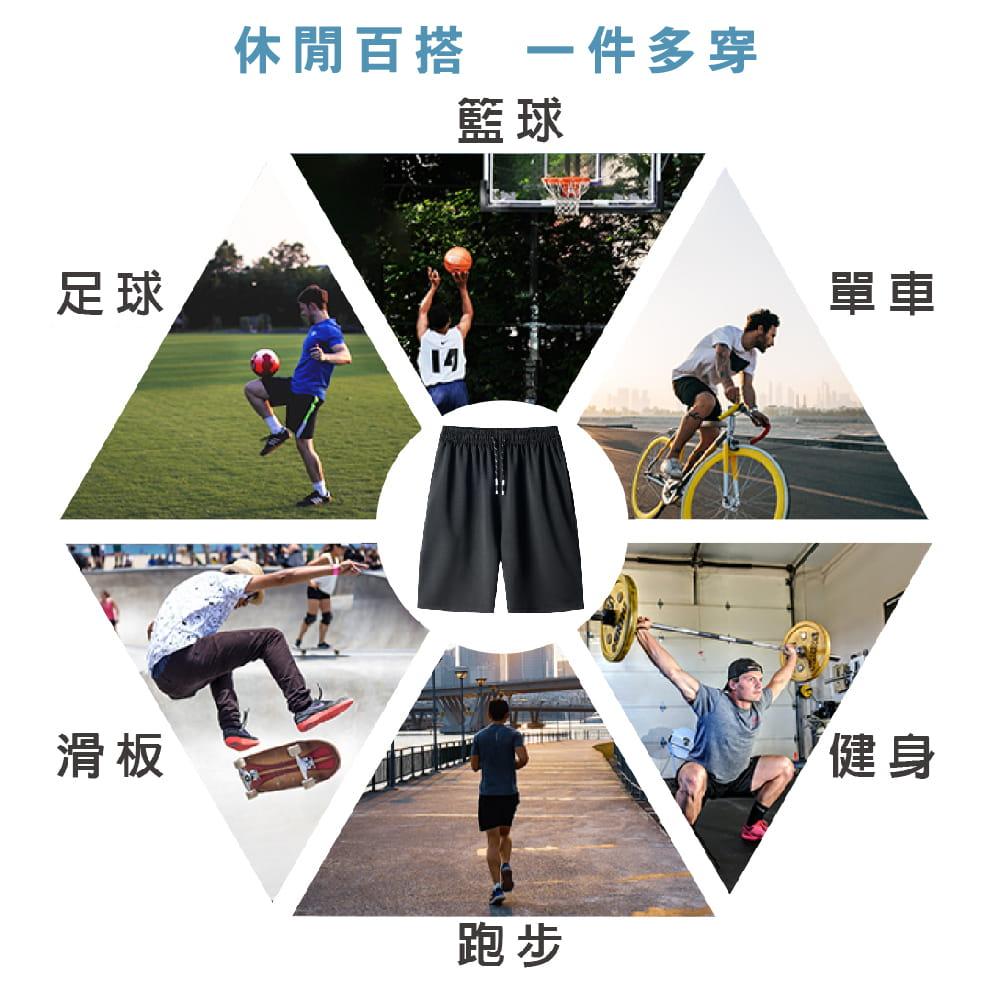 【NEW FORCE】高機能彈力抽繩運動男短褲-2色可選 4