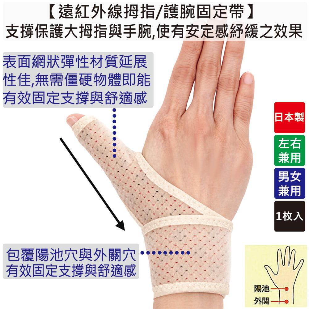 【Alphax】日本製 遠紅外線拇指護腕固定帶 1