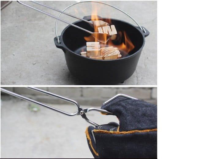 55cm加長户外BBQ不鏽鋼木炭烤夾 多功能夾子 2