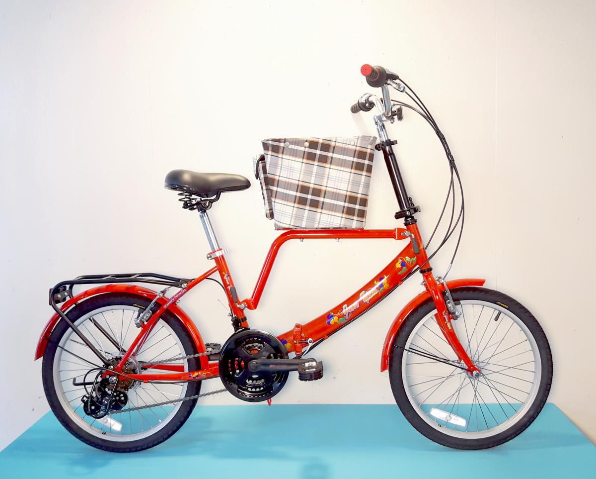 台製 20吋 21速 SHIMANO 摺疊 小籃 寵物腳踏車 0