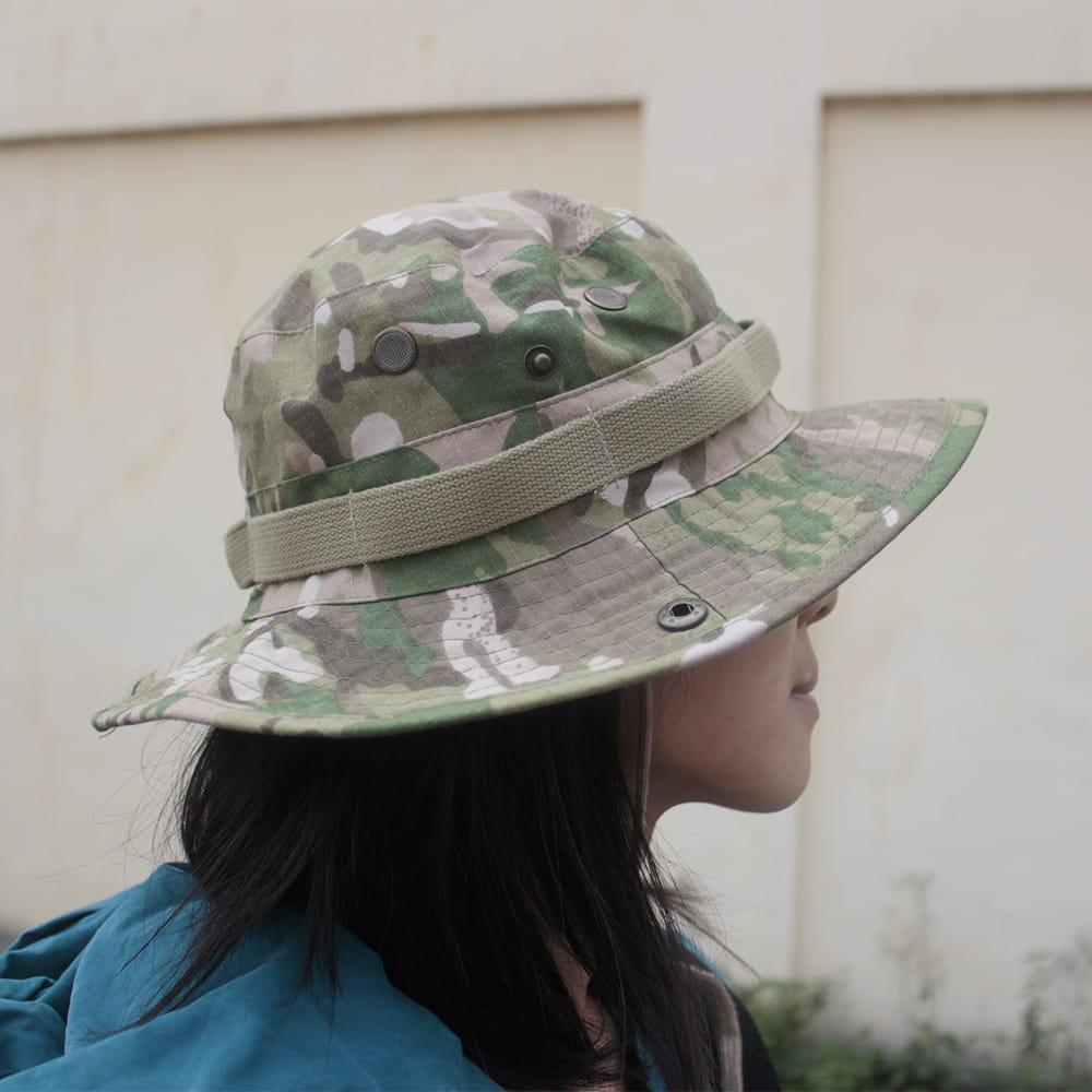 【E.City】可翻釦迷彩風戶外遮陽帽漁夫帽 6