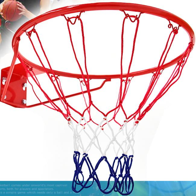 標準18吋金屬籃球框(含籃網)(標準籃框架/耐用籃筐架子) 0