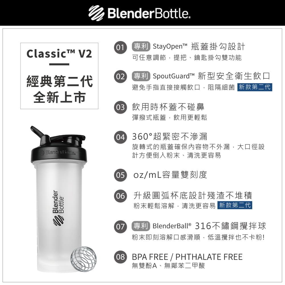 【Blender Bottle】Classic V2系列-經典防漏搖搖杯45oz(5色) 8