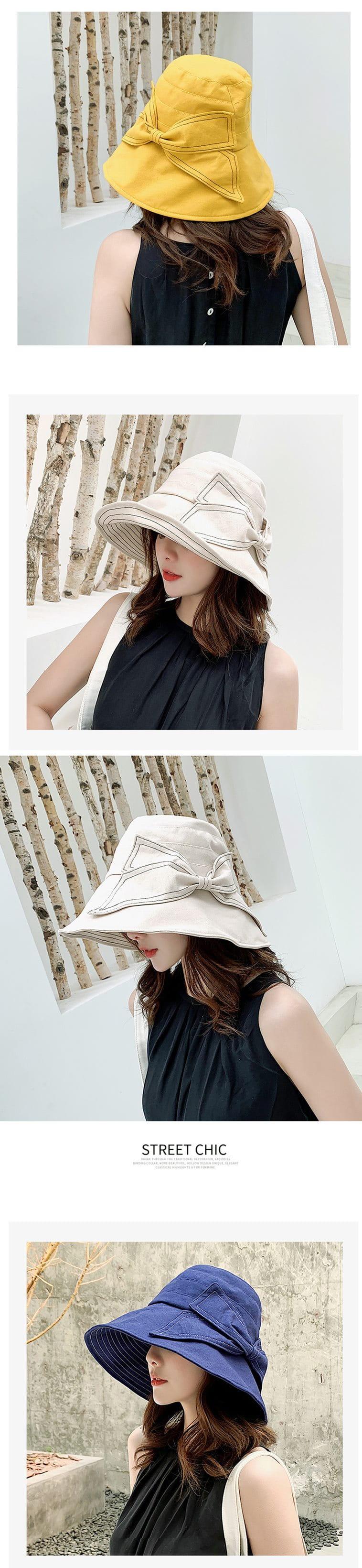防曬護臉透氣折疊遮陽帽 3