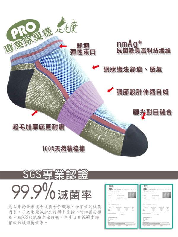 超短氣墊毛巾奈米科技健康除臭襪[F31] 5