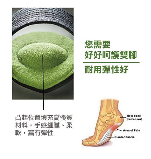 足體工學足弓減壓記憶墊(單支) 高足弓墊 6