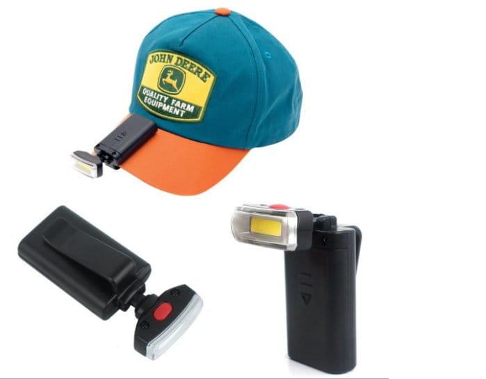 户外登山照明頭燈 LED夾帽燈 0