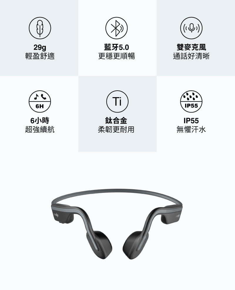 【AFTERSHOKZ】OPENMOVE AS660骨傳導藍牙運動耳機(純真白) 19