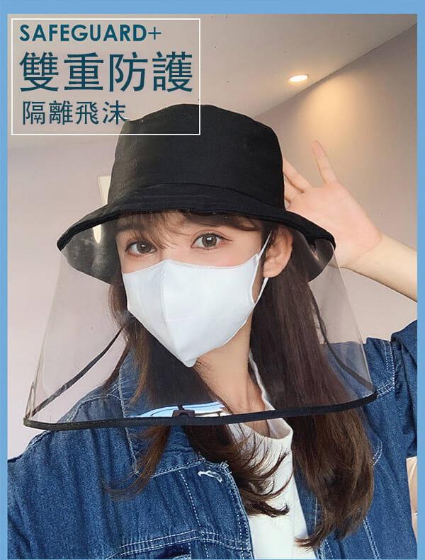 【台灣現貨】防護帽 防飛沫帽 透明面罩  飛沫阻擋 防護面罩  隔離唾沫 防疫用品 8