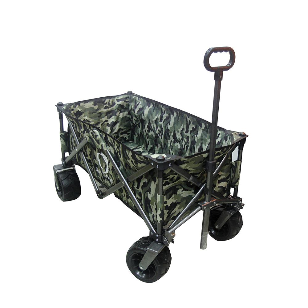 四折可收納美式折疊推車/手拉車/購物車 可承重100kg 可拆洗 (迷彩色) 1