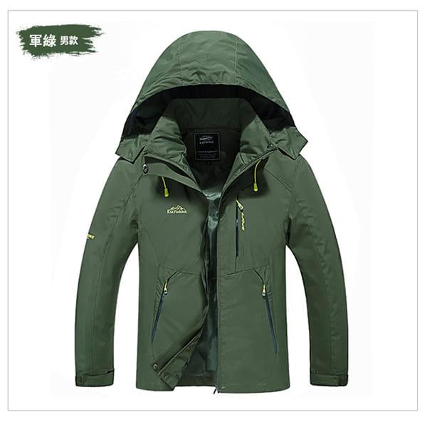 男女戶外機能防風防水衝鋒外套 10