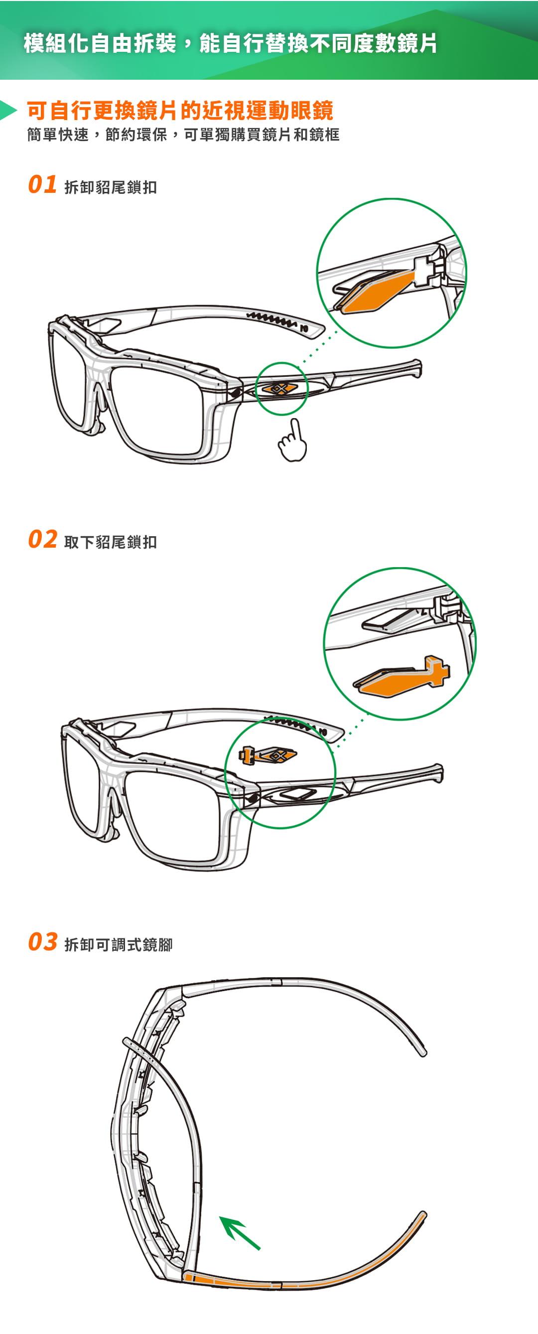 SABLE黑貂光學-專屬球類運動眼鏡CP-823(標準款-無保護墊)+SP-03(平光精緻鍍膜鏡片) 8